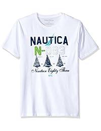 Nautica 男式短袖圆领棉质 t 恤