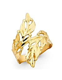 Paradise Jewelers 14K Solid Gold Design Ring, Size 6