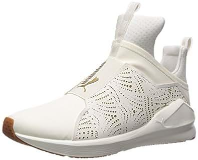 PUMA 女士 Fierce Lasercut Wn 运动鞋 Whisper 白金 6 M US
