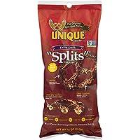 """Unique Pretzels Extra Dark Pretzel """"Splits"""", 11-Ounce, 12 Bags"""