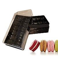 透明黑色底座塑料法国金刚鹦鹉小礼品盒 - 可容纳 12 个小马龙 - 腔体尺寸 4.45 x 2.54 厘米 - 10 个装