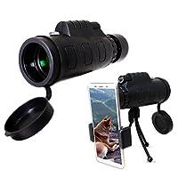 Verseo 高功率望远镜,适合运动、野生生活、自然和白鸟观察 防雾、透明、防水、单手焦镜头