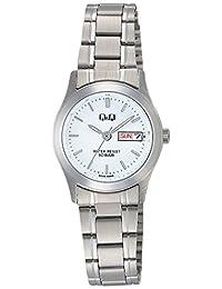 [西铁城 Q&Q]CITIZEN Q&Q 手表 不锈钢款 指针式 手镯式 10气压防水 白色 W473-201 女式