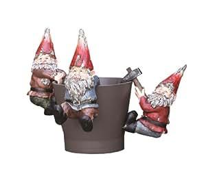 Napco 3 件套装饰性瓷锅挂钩装饰
