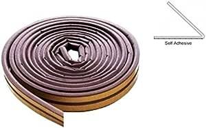 散装硬件 BH52019 自粘 Epdm 橡胶 V 型 5 米-棕色拔模 Draught Stopper 排除,1 包