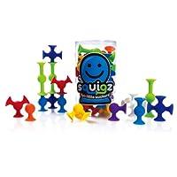 智库 美国FatBrain 立体拼插积木儿童益智玩具 吸吸乐24支
