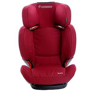 荷兰 迈可适 Maxi-Cosi RodiFix罗迪斯ISOFIX儿童汽车座椅(深红色) 3.5-12岁(15-36kg)(葡萄牙原产,欧洲进口,带ISOFIX 接口,头枕和靠背有专利技术的air protect 独特气垫保护系统,高度和宽度可调节,靠背角度可调节,高于欧洲ECE 标准认证,德国