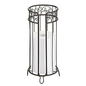 InterDesign twigz FREE standing 厕纸架–spare 卷存储适用于浴室青铜