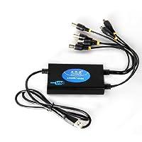龙视安 4路usb 监控卡 视频卡 手机监控 高清usb4路全d1采集卡  LS-UU4
