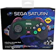 Retro-Bit Official SEGA Saturn 2.4Ghz Wireless Arcade Pad for MEGA DRIVE MINI CONSOLE, Sega Mega Drive Console