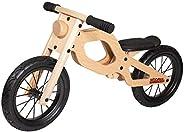 WOOMAX 85374 经典 12 英寸木制滑动自行车,92 x 39 x 47 厘米