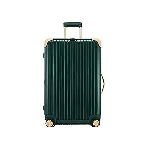 RIMOWA 日默瓦 BOSSA NOVA系列 旅行箱托运箱 870.63.41.4 墨绿色配米白色 26寸 万向轮 PC 海关锁 67*26cm*44cm (亚马逊进口直采,德国品牌)