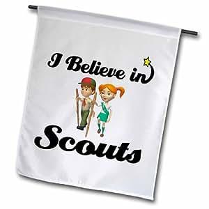 3dRose fl_105522_2 I Believe in Scouts 花园旗帜,45.72 x 68.58cm