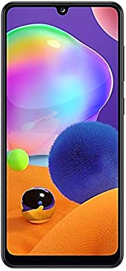 Samsung 三星 Galaxy A31-128GB / 4GB-A315G / DSL 雙卡雙待解鎖手機,4個攝像頭,48MP + 8MP + 5MP + 5MP GSM,國際版,棱鏡粉碎黑