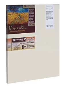 "Masterpiece Vincent PRO 7/8"" Deep, 22 x 28 Inch, Malibu Alkyd Oil Primed Belgian Linen Canvas"