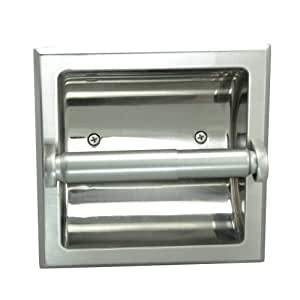 Designers Impressions 嵌入式马桶/纸巾纸架全金属结构构造 - 包括安装支架 - 变体 亮灰色(Satin Nickel) 49670