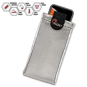 PHOOZY XP3 系列保暖手机壳 - 抵御太阳/热,雪/冷滴。 防水,SinkProof 技术坚固耐用全天候保护PHOXP3XL-SV iPhone 8+/Xr/Xs Max,Galaxy S8+/S9+,Note 9,Pixel XL Iridium Silver