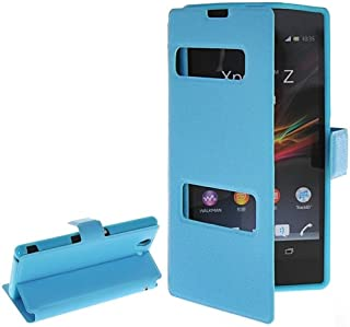 alsatek Window PU Leather Cover Case for Xperia Z L36h 蓝色