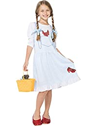 The Wizard of Oz Dress Like Dorothy Girls Nightgown and Slippers for Little Girls
