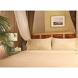 Sleep & Beyond 18-Inch Organic Cotton Sheet Set, Full, Ivory