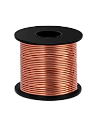 铝制工艺线 8 号 12 号 18 号,Luxiv 1 毫米 2 毫米 3 毫米银色铝制线用于手工线软 DIY 金属工艺艺术线 铜色 12gauge(2mm) L5W-Aluminum wire
