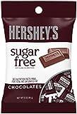 HERSHEY'S 節日巧克力糖果棒,無糖,3 盎司袋(12 包)