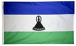 Annin Flagmakers 尼龙太阳镜 Nyl-Glo 莱索托旗帜 3x5' 194804