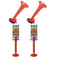 Kicko Party 空气喇叭带手动泵 - 2 个装 - 用于庆祝噪音产生者、啦啦队比赛、音乐游戏、趣味*品 - 12 英寸