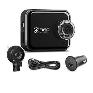 360 行车记录仪标准升级版 J501C 安霸A12 高清夜视 WIFI连接 智能管理 (黑色)