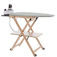 Italia arredamenti 烫衣板可折叠可调节 / 纯色 beech–135x 35x 45cm