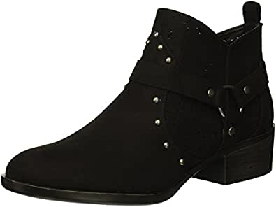 Dirty Laundry Wyatt 女士及踝靴 黑色麂皮 8 M US