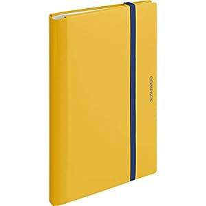 キングジム クリアファイル A4 二つ折り コンパック 黄色 5894Mキイ