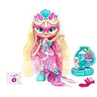 Shopkins Lil Secrets Shoppie - 可收藏的 Shoppie 玩偶,内含可穿式盒式项链坠、Shoppie & Shopkin 玩具 Pearlina 皮肤色