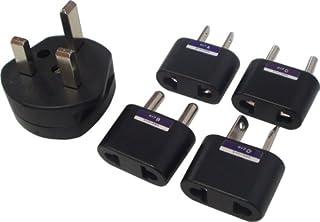 日章工业 转换插头套装(A型・B型・C型・O型・BF型各1个共计5个) P-5S