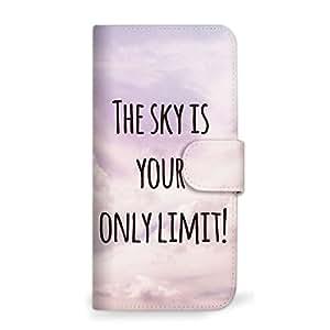 mitas 智能手机壳 手册式 天空 简单SC-0399-PR/507SH 11_Android One (507SH) 紫色
