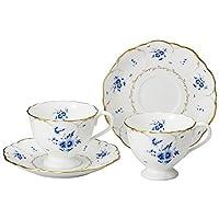 NARUMI 鳴海 Fiorista系列 茶杯碟組 咖啡茶兼用 對裝 220cc(約220ml) 52035-20379