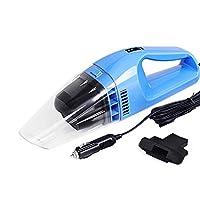 鞍象AnXiang 车载吸尘器 车用大功率 汽车吸尘器 100W 干湿两用 (34*9.5*10cm, 蓝色)