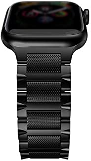 T-ENGINE 兼容 Apple Watch 表带 44 毫米 42 毫米 钛 表带 适用于 Seires 5 系列 4 系列 3 2 1