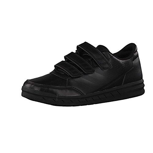 adidas kidsアディダス子供用シューズニュートラル子供用カジュアルスポーツシューズBA9526 No.1ブラック/ No.1ブラック/ホワイト24 (イギリス10-k)
