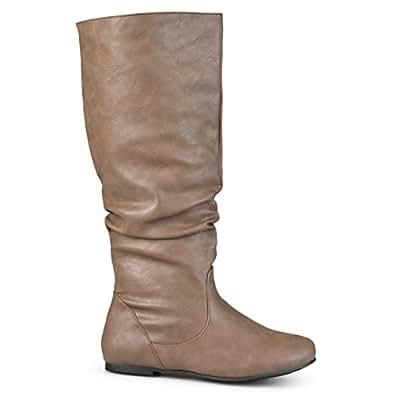 Brinley Co 女士 Joey 常规宽小腿马靴 Taupe Wide 7.5 M US