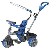 Little Tikes 小泰克 小推车系列 4合1推骑三轮车 基础版 蓝银 MGAC634314E4