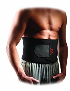 McDavid 迈克达威 束腰带:氯丁橡胶腰部桑拿训练器 - 促进健康排汗,减重,改善背部姿势,黑色,Men - One Size