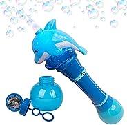 ArtCreativity 发光海豚吹泡棒 - 11.5 英寸发光泡泡机,内含儿童电池和气泡液体,馈赠佳品,派对礼物