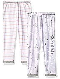 Calvin Klein 女婴 3 条装裤子-换成 2 条装