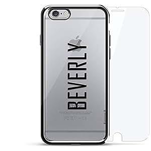 镀铬系列 360 套装:设计师手机壳 + 钢化玻璃 适用于 iPhone 6/6s PlusLUX-I6PLCRM360-NMBEVERLY2 NAME: BEVERLY, MODERN FONT STYLE 银色
