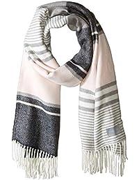 Calvin Klein 女士条纹毛毯围巾
