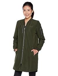 adidas NEO 阿迪达斯运动生活 女式 夹棉外套 CD2264 夜空货物绿 W LNG BMBR