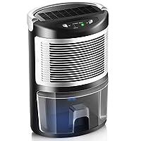 dehumidifiers 适用于家庭, misspet DH-100便携式*机,2200立方英尺,小巧超静音适用于潮湿 AIR ,卧室,厨房,办公, wardrobe ,防火耐 ABS 材质 灰白色