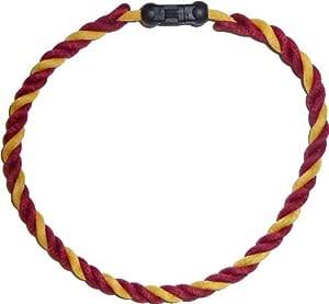 Pinnacle Sports 三重钛双色项链(栗色/金色/栗色,45.72 厘米)