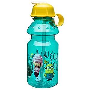 Zak Designs Minions 14 oz. Water Bottle with Flip Straw, Dave